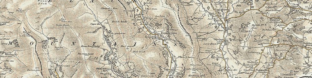 Old map of Wiral in 1900-1901