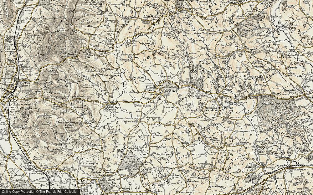 Old Map of Llantilio Crossenny, 1899-1900 in 1899-1900
