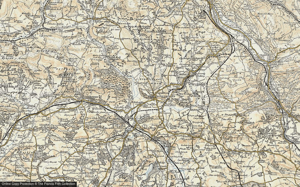 Old Map of Llantrisant, 1899-1900 in 1899-1900