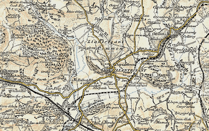 Old map of Llantrisant in 1899-1900