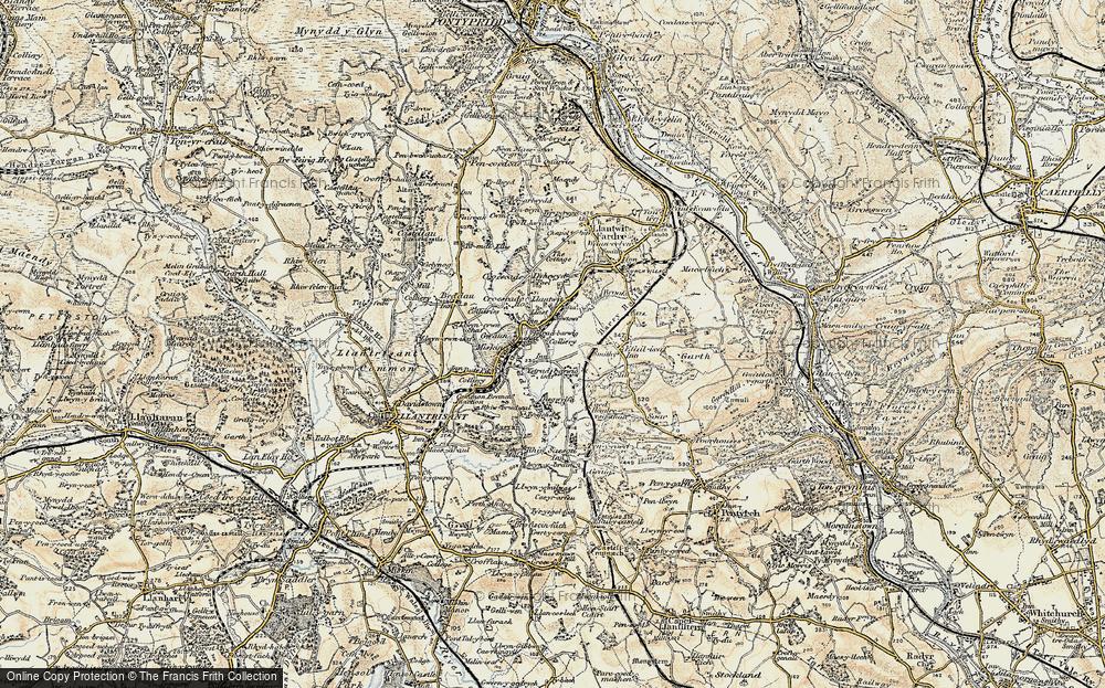 Old Map of Llantwit Fardre, 1899-1900 in 1899-1900