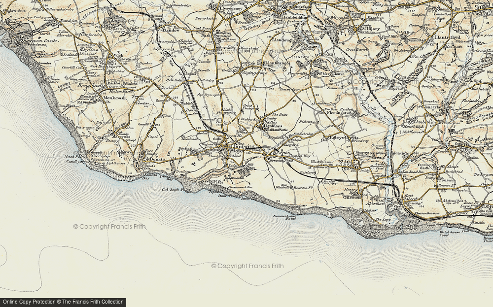 Old Map of Llantwit Major, 1899-1900 in 1899-1900