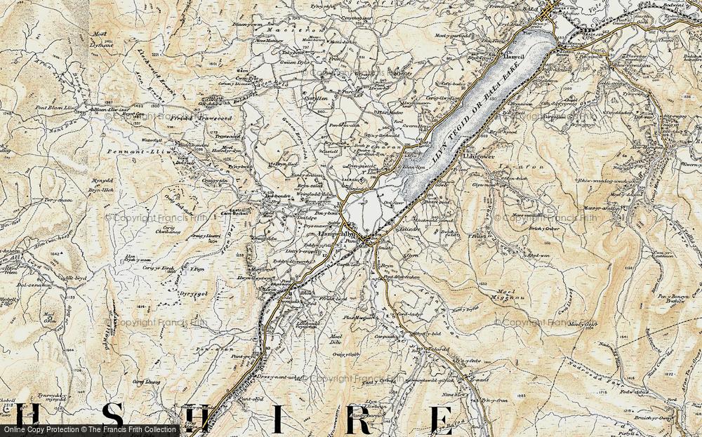 Old Map of Llanuwchllyn, 1903 in 1903