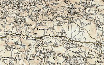Old map of Whitebrook in 1899-1900