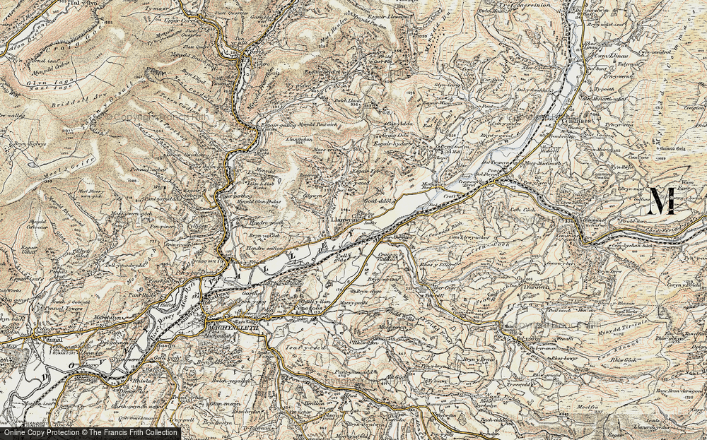 Old Map of Historic Map covering Abergwydol in 1902-1903
