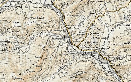Old map of Ashfield in 1900-1903