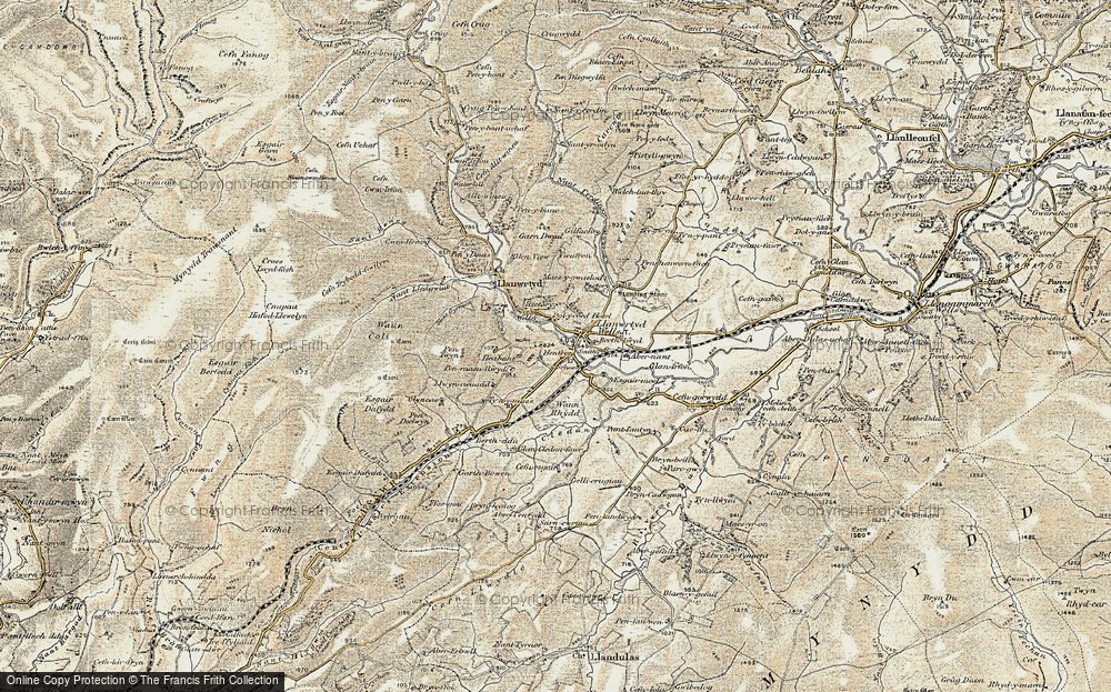 Old Map of Llanwrtyd Wells, 1901-1902 in 1901-1902