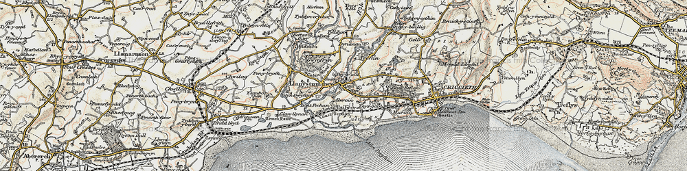 Old map of Aberkin in 1903
