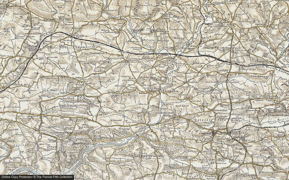 Old Map of Historic Map covering Addlepits in 1901-1912