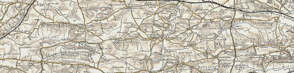 Old map of Addlepits in 1901-1912