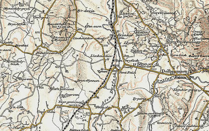 Old map of Ynys in 1903
