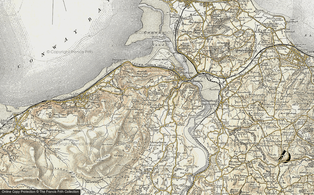 Old Map of Historic Map covering Afon Gyffin in 1902-1903