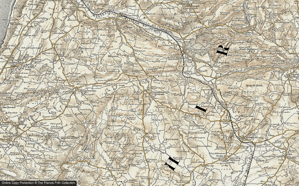 Old Map of Lledrod, 1901-1903 in 1901-1903