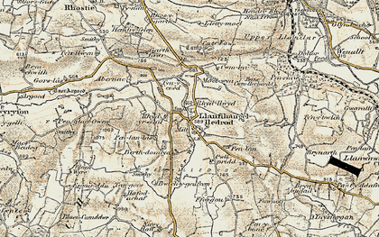 Old map of Lledrod in 1901-1903