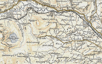 Old map of Aberderfel in 1902-1903