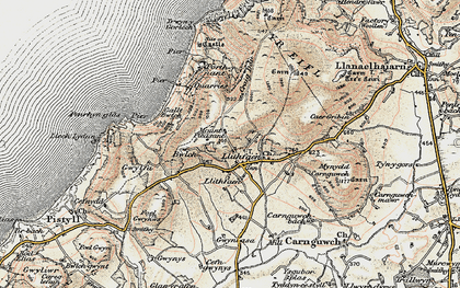Old map of Llithfaen in 1903