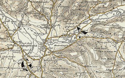 Old map of Abermeurig in 1901-1903