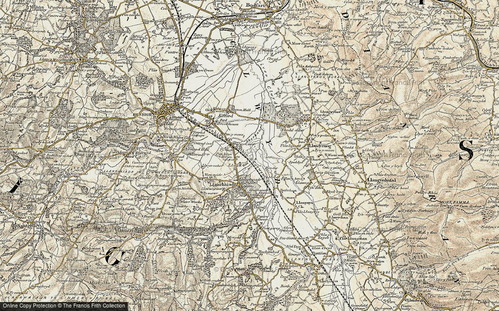 Old Map of Historic Map covering Aberham in 1902-1903