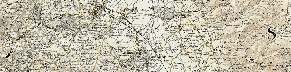 Old map of Aberham in 1902-1903