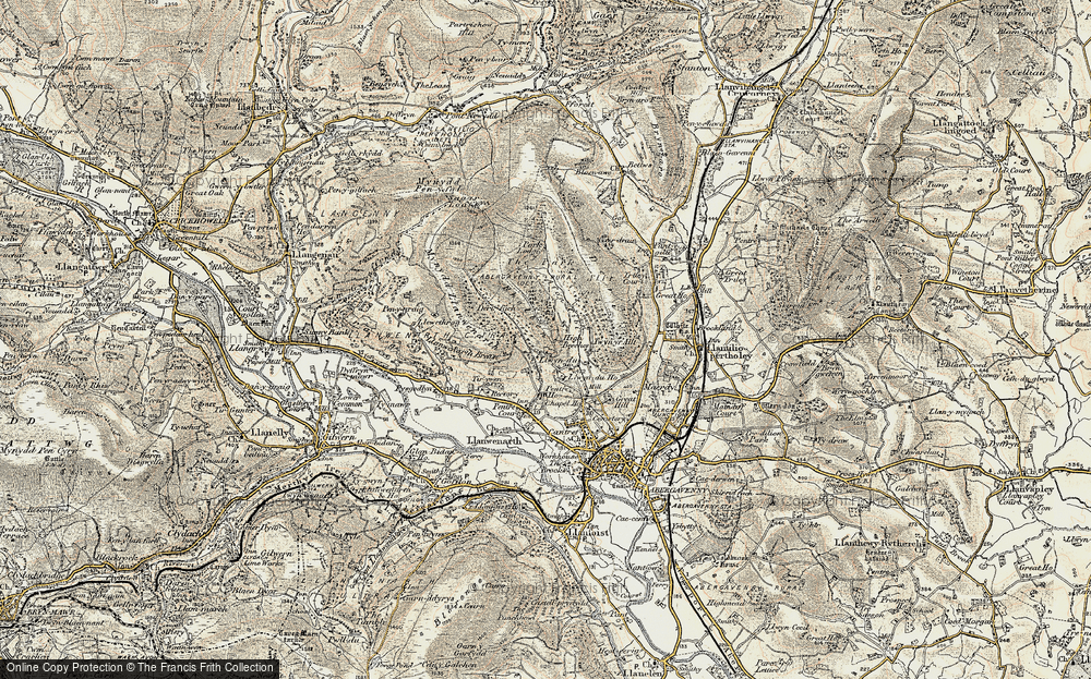 Old Map of Historic Map covering Allt in 1899-1901
