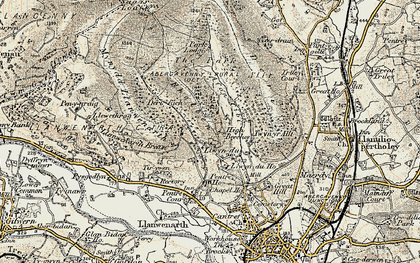 Old map of Allt in 1899-1901