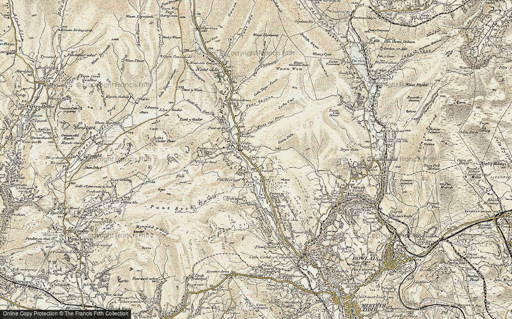 Old Map of Historic Map covering Afon Taf Fawr in 1900