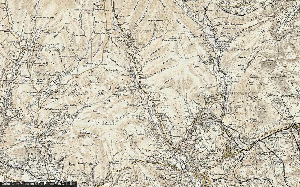 Llwyn-on Village, 1900