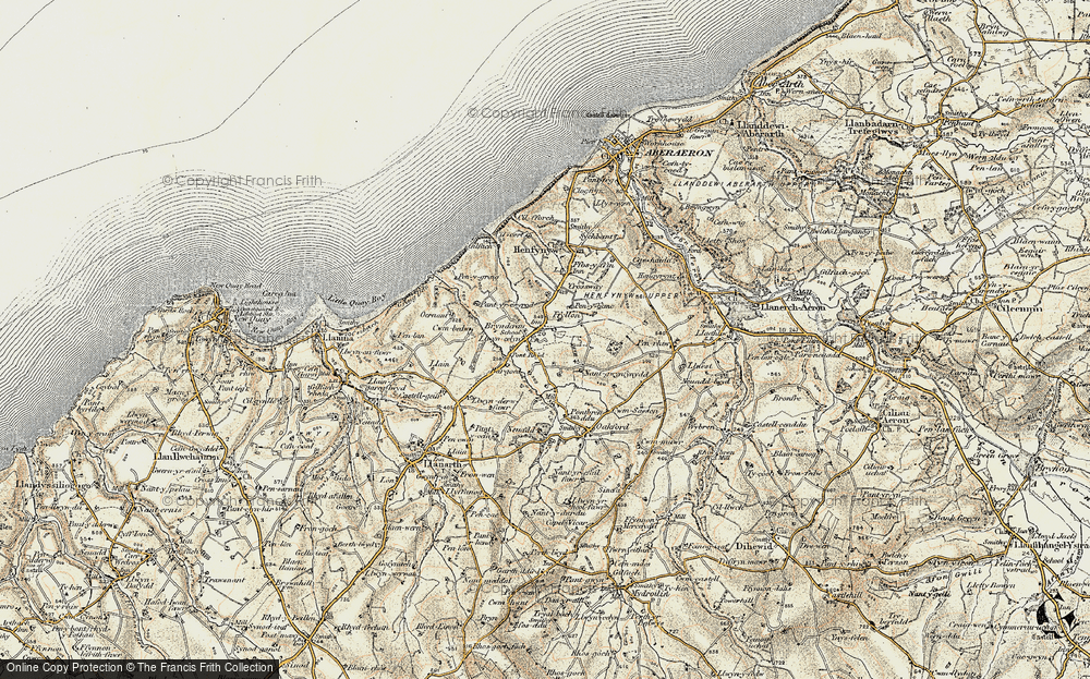 Old Map of Historic Map covering Afon Drywi in 1901-1903