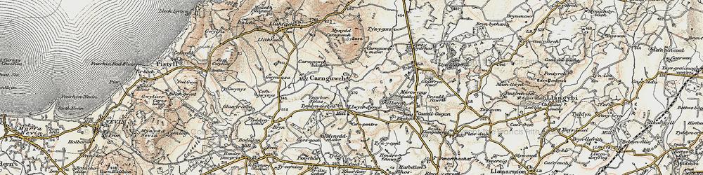 Old map of Ysgubor Plas in 1903