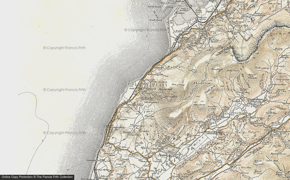 Old Map of Historic Map covering Afon Gwril in 1902-1903