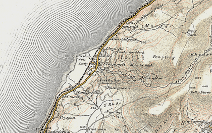 Old map of Llwyngwril in 1902-1903