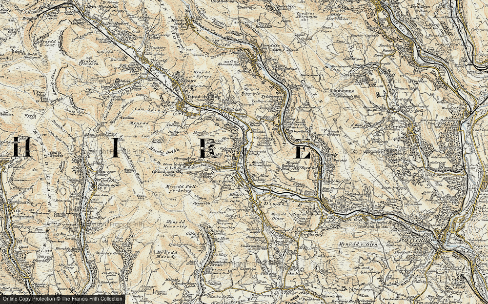 Old Map of Llwynypia, 1899-1900 in 1899-1900