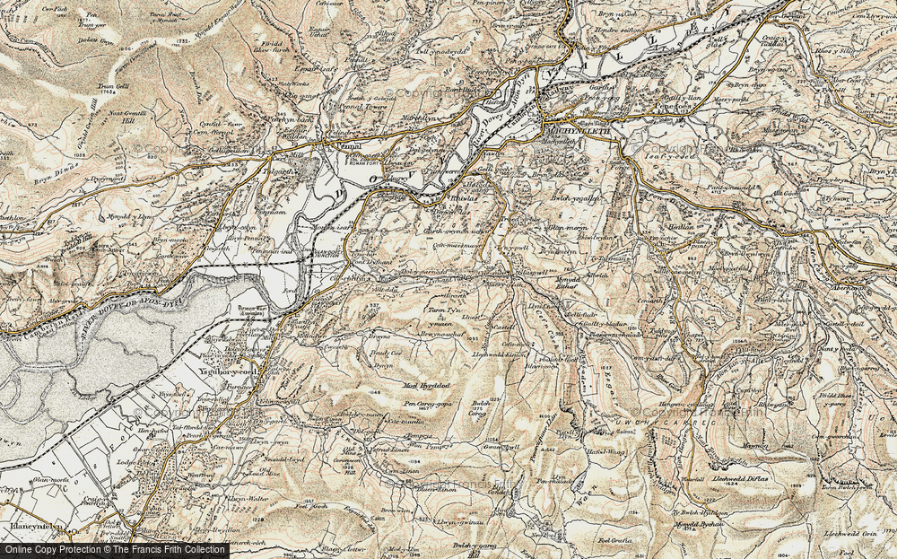 Old Map of Llyfnant Valley, 1902-1903 in 1902-1903