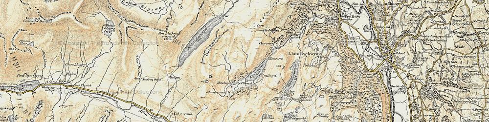 Old map of Llyn Crafnant in 1902-1903