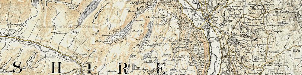 Old map of Afon Crafnant in 1902-1903