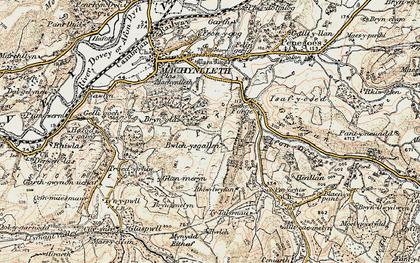 Old map of Llyn Glanmerin in 1902-1903