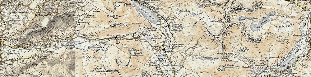 Old map of Afon Treweunydd in 1903