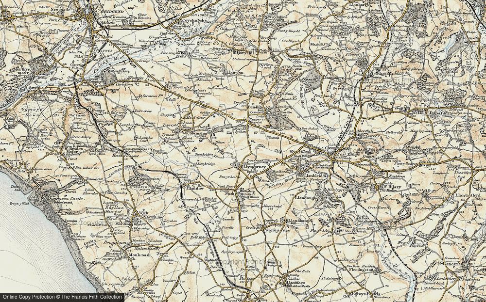 Old Map of Llysworney, 1899-1900 in 1899-1900