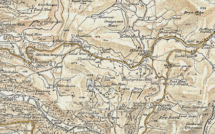 Old map of Banc Creignant Mawr in 1901-1903