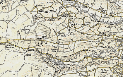 Old map of Ash Cabin Flat in 1903