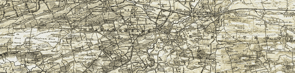 Old map of Almond in 1904-1906