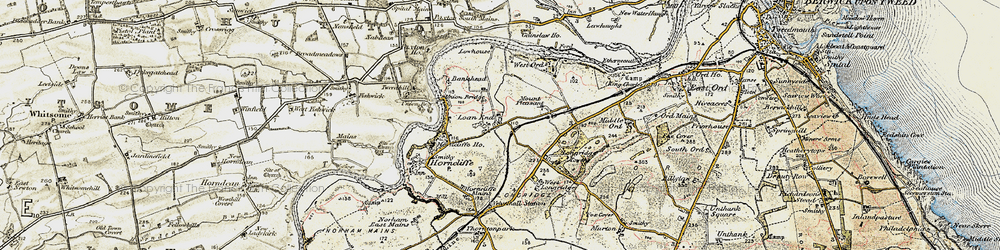 Old map of West Ord in 1901-1903