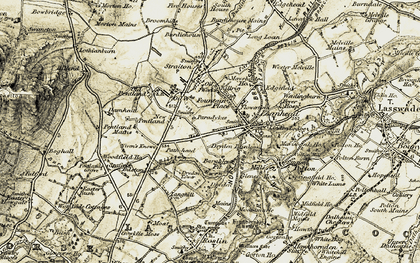 Old map of Loanhead in 1903-1904
