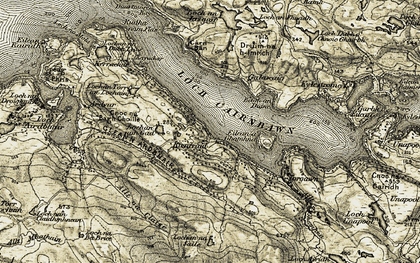 Old map of Allt na Claise in 1910
