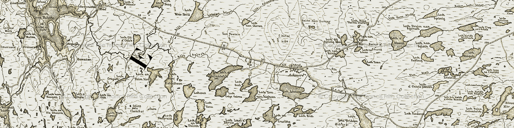 Old map of Allt Chrianaig in 1911