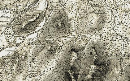 Old map of Loch an Eilein in 1908