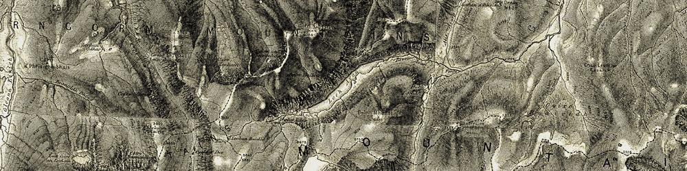 Old map of A' Chòinneach in 1908