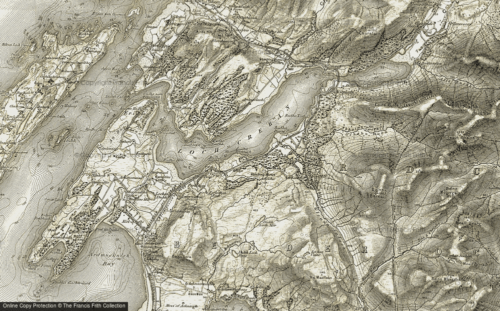 Old Map of Historic Map covering Achacha in 1906-1908