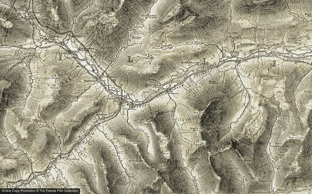 Old Map of Historic Map covering Tigh a' Phuirt in 1906-1907