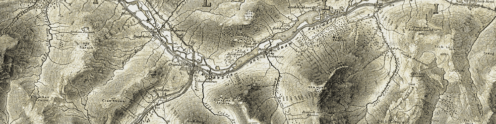 Old map of Tigh a' Phuirt in 1906-1907